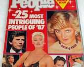People Magazine 25 Most Intriguing People of '87 Including Princess Di, Gary Hart, Ronald Reagan, Baby Jessica and AIDS Patient Zero