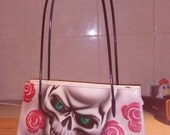 Airbrushed scull bag