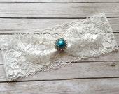 Wedding Garter Belt, Bridal Garter - White Lace Garter, Toss Garter - Bride Garter - Keepsake Garter - DIY Garter
