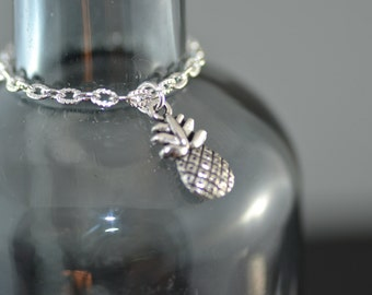 Pineapple necklace, tropical fruit