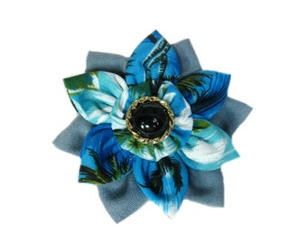Flower Hair Piece, Flower Hair Clip, Women Multi-Color Hair Flower, Barrette, Floral Headpiece