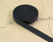 "3 Yards Black Decorative Satin Plush Back Strap Elastic 1/2"" Bra Making Supplies Lingerie Sewing Bramaking"