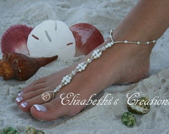 Barefoot Sandal - Pearls & Crystals Barefoot Sandal Just for you