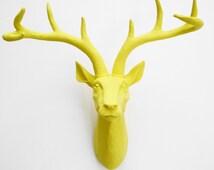 Faux Deer Head Silver Deer Head Faux Taxidermy Animal