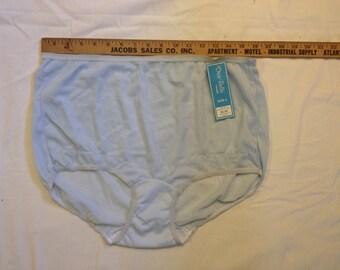 High waist panties blue nylon XL Plus size photo shoot granny underwear fetish harajuku