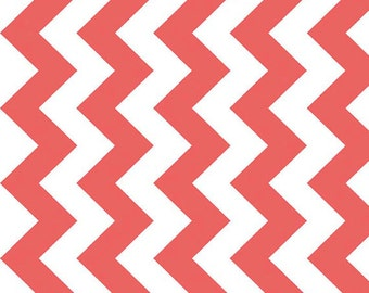 "58"" WIDE- 1 YARD- Riley Blake Medium Chevron Manufactures Cut in Rouge"