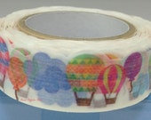 Watercolor Balloon Japanese Die Cut Washi Tape Masking Tape Deco Tape Paper Tape (TM00421)