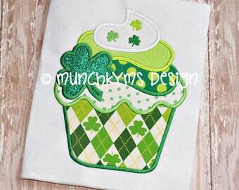 St Patrick's Day Cupcake - Custom monogram - Infants to Adults