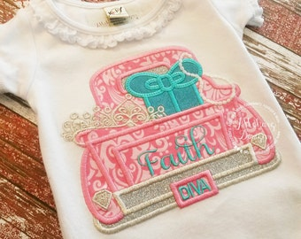 Diva Vintage Truck Custom Tee Shirt - Customizable -  Infant to Youth 29