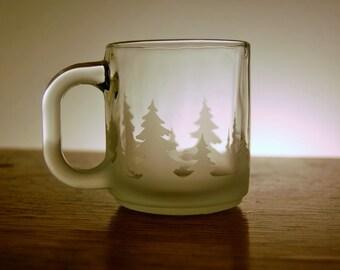 Winter Woods Glass Mugs - ON SALE