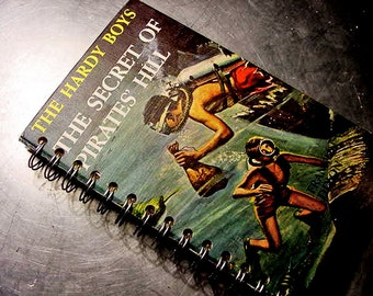 HARDY BOYS JOURNAL Secret of Pirate Hill Vintage Altered Book Notebook