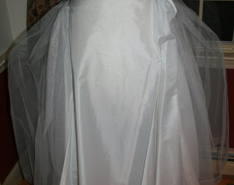 Vintage Toole Petticoat/ Full Length Petticoat/ Tulle Petticoat