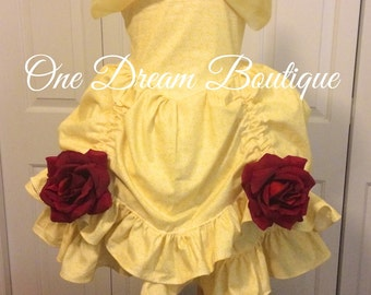 beauty  and the beast Belle inspired ball gown dress