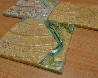 African Hut Ceramic Tile