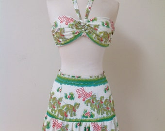 Vintage 1940's CATALINA Two Piece Swimsuit