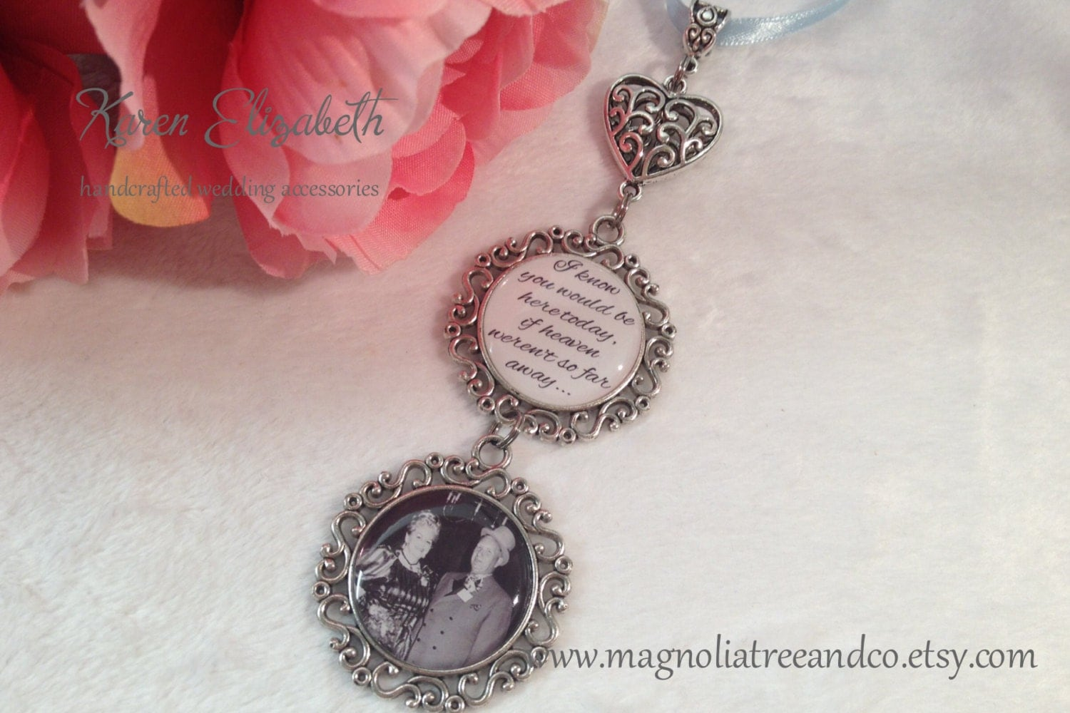 bridal charm wedding bouquet charm memorial charm pendant
