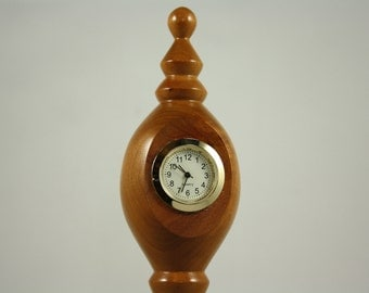 Wooden Table Clock Hand Turned in Cherry