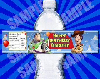 Toy Story Water Bottle Labels Printable - Printable Birthday Party Water Bottle Label