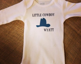 Little Cowboy Onesie // Little Cowboy Bodysuit