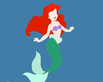 Little Mermaid Minimalist Poster