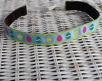 Blue Easter Egg Headband - Fashion Headband - No Slip Headband
