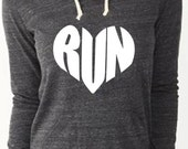 Running Love Love to Run Hoodie Sweatshirt                           Marathon Sweatshirt