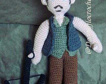 The walking dead Daryl crocheted amigurumi