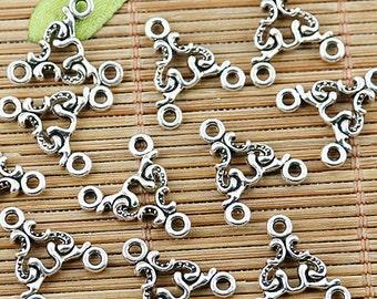 60pcs Tibetan silver nice 3holes connectors EF1360