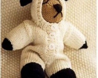 baby knitting pattern     babies first bear  7 inches dk yarn  yarn    instand download