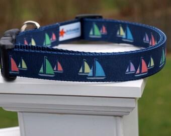 Sailboat Collar / Sailboats / Nautical Collar / Boating Collar