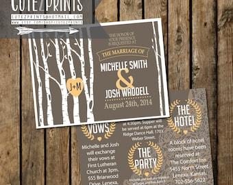 Birch Tree Wedding Invitation Set