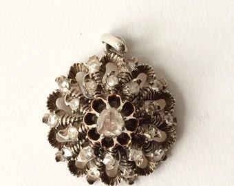 Antique Art Deco diamond pendant S6