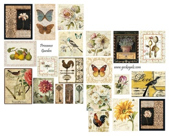 Provence Garden Digital Collage Set
