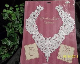 Venice Lace Collar, White