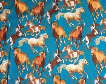 Blue Horse Fabric