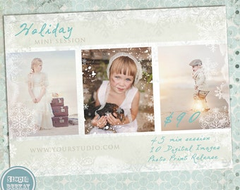Photography Marketing Holiday Mini Sessions Template - INSTANT DOWNLOAD