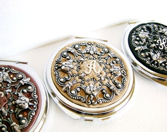 Free Gift Wrap-Set of 8-Personalized Bridesmaids Gifts Compact Mirrors