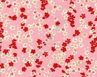 Tossed Cherry Blossoms Pink Metallic - Diary of A Geisha Collection - Studio e 2813M-22 (sold by the 1/2 yard)