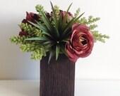 Artificial Floral Arrangement / Faux Flowers / Brown / Succulents / Artificial Succulent Arrangement
