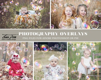 Photography Bubble Overlays, Bubble Photo Overlays, INSTANT DOWNLOAD