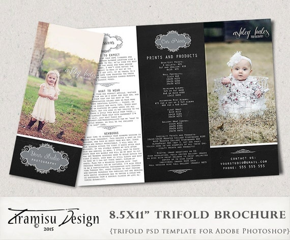 Photography trifold brochure template client welcome guide for Welcome brochure template