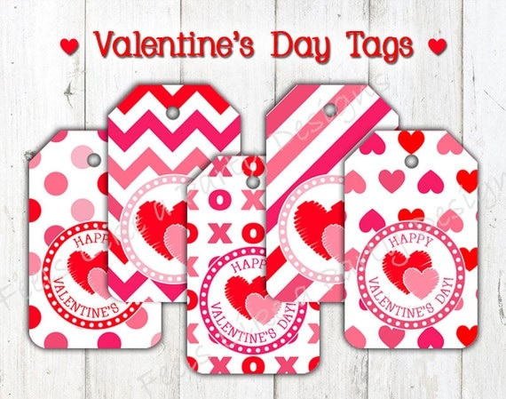 Valentine 39 s day tags instant download for Table 52 valentine s day