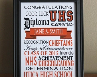 Personalized Graduation Print