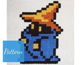 Black Mage (Final Fantasy) Cross Stitch Pattern