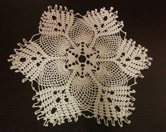 Ecru doily lace doily  wedding doilies crochet