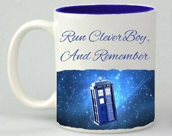 Doctor Who Inspired Coffee Mug, Coffee Cup, Doctor Who Gift, Bad Wolf Mug, Bad Wolf, Mug, Mugs