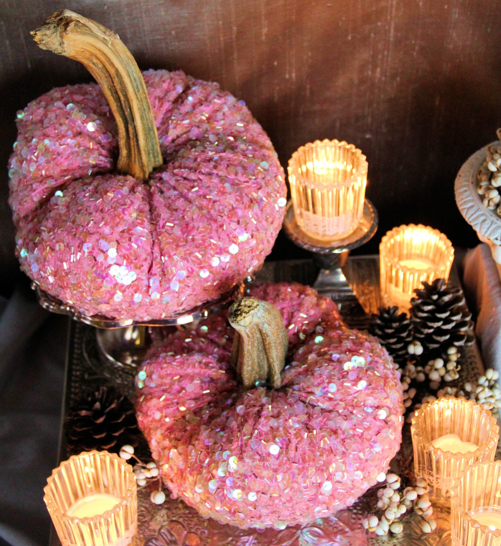 PINK Pumpkins Stuffed Pumpkins Bridal Baby Shower Velvet