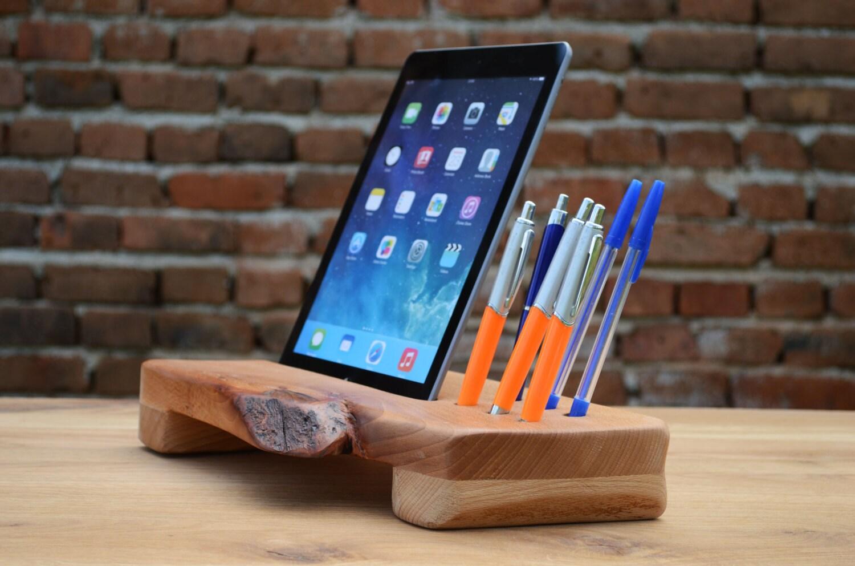 veranstalter aus holz schreibtisch organizer handmade tablet. Black Bedroom Furniture Sets. Home Design Ideas