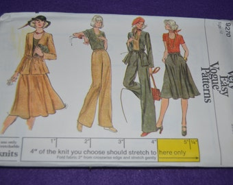 Vogue 9270 Misses Jacket  Skirt Pants and Top Sewing Pattern -UNCUT Size 10 or Size 12 or Size 16