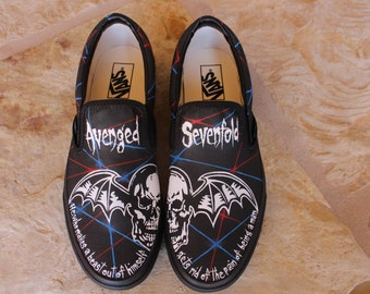 Hand Painted Shoes - Avenged Sevenfold